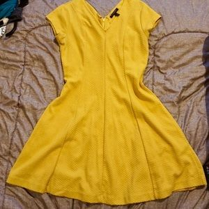 Banana Republic Yellow Flare Dress